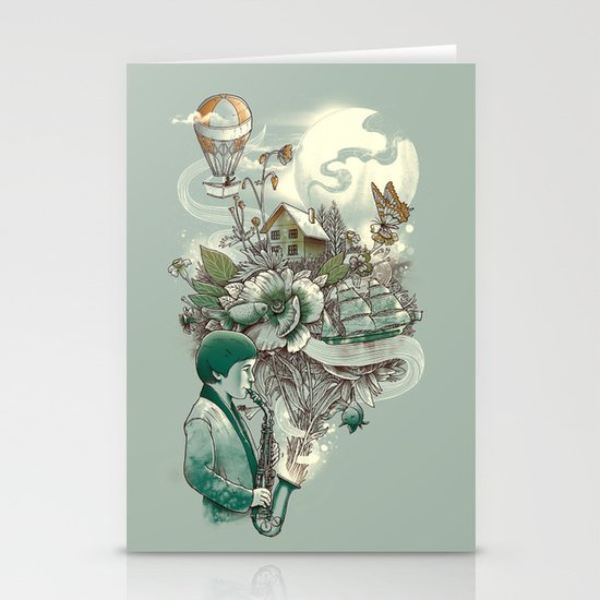 'In Tune with Nature' Stationery Card