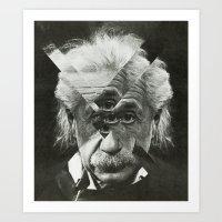 Albert E Mix 3 Art Print