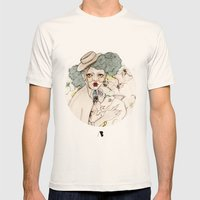 Mr. Rabbit...Wait! Pleas… Mens Fitted Tee Natural SMALL