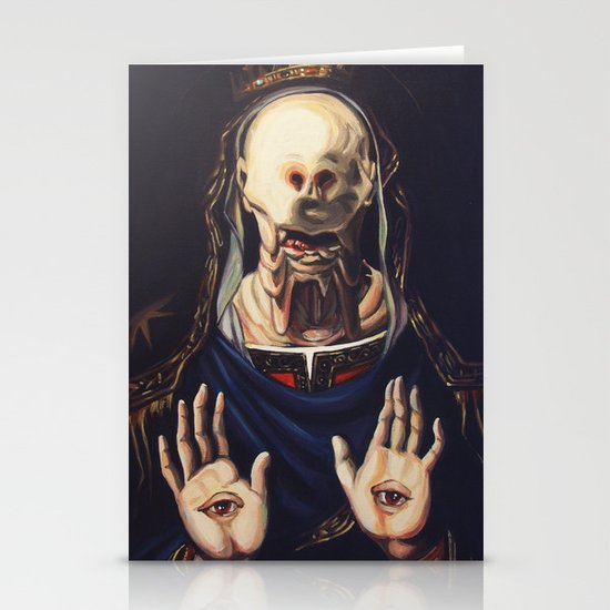 Pale Man With Crown Stationery Card