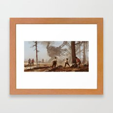 1920 - machine over muscle Framed Art Print