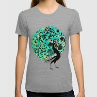 Neon Peacock Womens Fitted Tee Tri-Grey SMALL