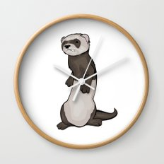 Wild Ferret Wall Clock
