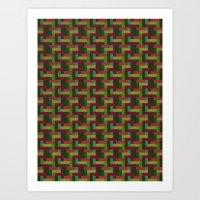 Woven Pixels III Art Print