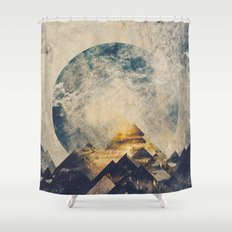One mountain at a time Shower Curtain