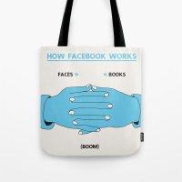 How Facebook Works Tote Bag
