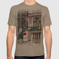 World War Z Street Location Mens Fitted Tee Tri-Coffee SMALL