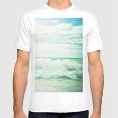 Crash SMALL Mens Fitted Tee White