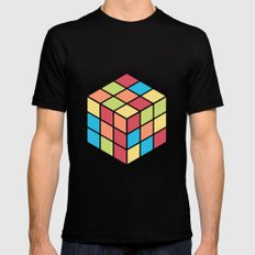 #68 Rubix Cube Mens Fitted Tee Black SMALL