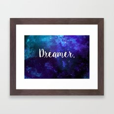 Dreamer in space. Framed Art Print