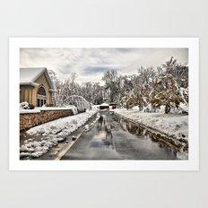 An Unexpected Snowfall Art Print