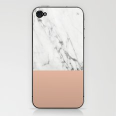 Marble And Coral iPhone & iPod Skin