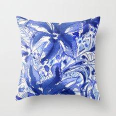 Blue flowers. Throw Pillow