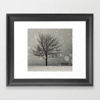 January Snow Framed Art Print