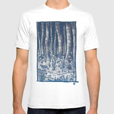 Oregon Forest SMALL White Mens Fitted Tee