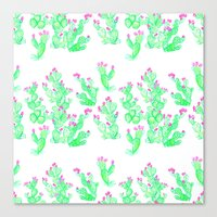 Prickly Pear Spring - Wh… Canvas Print