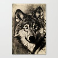 The Gray Canvas Print
