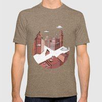 Voyager Mens Fitted Tee Tri-Coffee SMALL