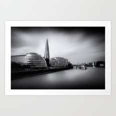 London City and The Shard.  Art Print