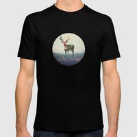 Run Wild Mens Fitted Tee Black SMALL
