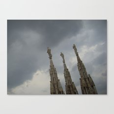Three Statues on The Duomo Canvas Print