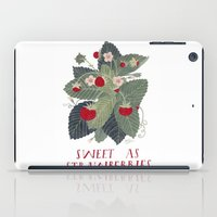 Sweet As Strawberries iPad Case