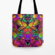 Floral Fractal Art G306 Tote Bag