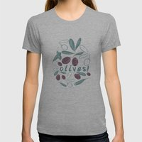 OLIVES Womens Fitted Tee Athletic Grey SMALL