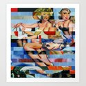 Glitch Pin-Up: Taylor & Tiffany Art Print