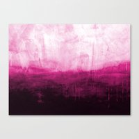 Paint 7 pink abstract painting ocean sea minimal modern bright colorful dorm college urban flat Canvas Print
