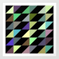 Tilted rectangles pattern Art Print