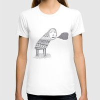 (A Wuggie) Womens Fitted Tee White SMALL