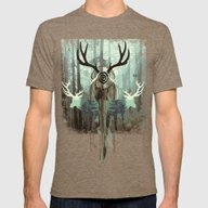 The Forest Spirits Mens Fitted Tee Tri-Coffee SMALL