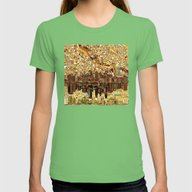 Minneapolis City Skyline Womens Fitted Tee Grass LARGE