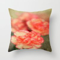 Concrete Carnation Throw Pillow