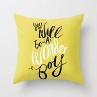 Wonder Boy Throw Pillow