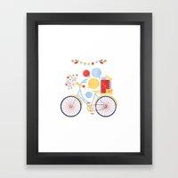 Party Bike Framed Art Print