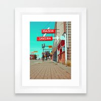 Oasis Tavern Framed Art Print