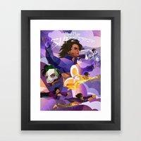 Purple Reign of the Supermen Framed Art Print
