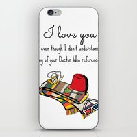 Doctor Who Love iPhone & iPod Skin
