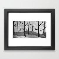 Abstract Forest Scene Framed Art Print
