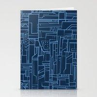 Electropattern (Blue) Stationery Cards