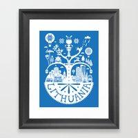 Lithuanian Myth - Blue Framed Art Print