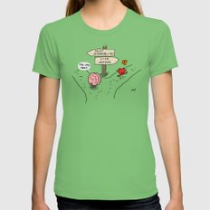 the Fork Womens Fitted Tee Grass SMALL