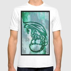 Green dragon  Mens Fitted Tee White SMALL