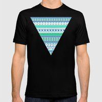 EMERALD CHENOA PATTERN Mens Fitted Tee Black SMALL