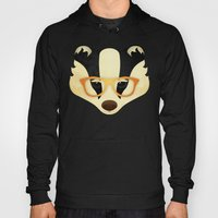 Hipster Badger: Gold Hoody