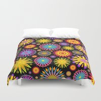Bright And Colorful Flowers Duvet Cover