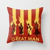 The Great Man Theory Throw Pillow