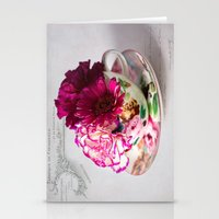 Shabby chic floral Stationery Cards